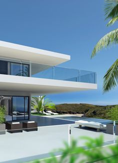 ...---===||===---... Exterior view of the Villa Canberra Concept by Cik Pom Design  _