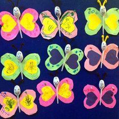 plastic spoon butterfly craft idea