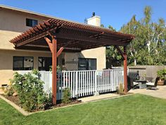 Diy Pergola Attached To House Diy Gazebo, Gazebo Plans, Pergola Attached To House, Wooden Pergola, Amazing Gardens, Perfect Place, Living Spaces, New Homes, Backyard