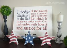4th of July Decorations: Flag Canvas - A Little Tipsy