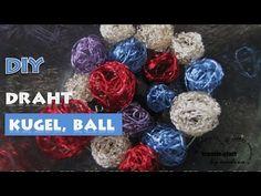 DIY- Schnell und einfach selbst gemacht: Kugeln und Bälle aus buntem Basteldraht. Viel Spaß beim KREATIV sein. lg Andrea   #diy  #basteln #Draht #Ball #kugel #kstatta #Anleitung #weihnachten #ostern #schmuck #tinker #wire #ball #Christmas #tutorial #jewelry