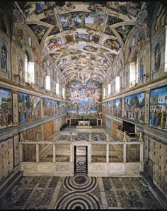 Sistine Chapel. Rome, Italy. - went here with my mother and Anne.  You really have to see it in person to understand the impact of the artwork and significance of this space.