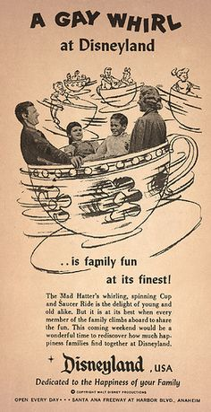 Have a Gay Whirl at Disneyland! - An ad you would never see today, Patrick Byers