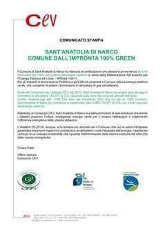 Certificato GREEN per Sant'Anatolia di Narco