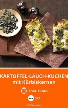 Kartoffel-Lauch-Kuchen - mit Kürbiskernen - smarter - Kalorien: 545 kcal - Zeit: 1 Std. 15 Min. | eatsmarter.de