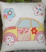 caravan applique cushion - Google Search