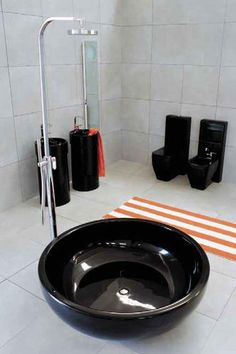 Free-standing bathtub-shower combination / round FONTANA by Giulio Cappellini FLAMINIA