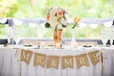 Virginia Vintage Style Farm Wedding - head table