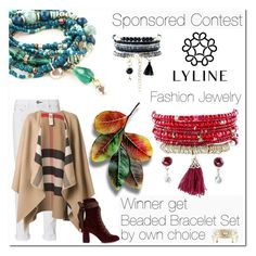 """SPONSORED CONTEST - Win Beaded Bracelet Set from www.lylinebrand.com"" by jecakns ❤ liked on Polyvore featuring rag & bone, Burberry, Chloé, jewelry, lylinebrand and shinewithlyline"