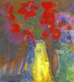Rote Rispe (Red Panicle), Emil Nolde.                              …                                                                                                                                                                                 Plus