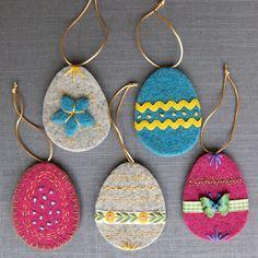 Joe's Toes - Felt Egg decorations in thick Joe's Toes wool felt
