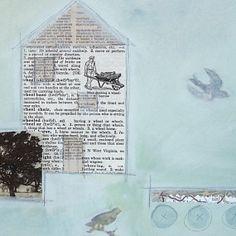 Original MixedMedia Collage He Wheeled Around by GatheredTogether, $50.00