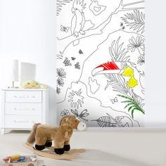 Tapeten - Dschungel - Tapete - ein Designerstück von Wandtattoo-yd bei DaWanda