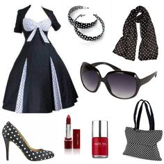 Plus Size Ladies Clothing -- I'm loving the old retro look. Fashion Night, Only Fashion, Girl Fashion, Fashion Outfits, Fashion News, Plus Size Womens Clothing, Plus Size Outfits, Plus Size Fashion, Clothes For Women