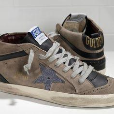 GGDB Hombre - Barato Zapatillas 2016 Golden Goose DB Mid Star GGDB Hombre Sneakers Caqui Azul Negro Gris