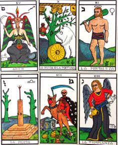El Gran Tarot Esoterico Printed by Fournier. Used deck good condition. Design by Luis Pena Longa.