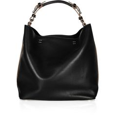 Marni Slouchy leather shoulder bag ($742) ❤ liked on Polyvore featuring bags, handbags, shoulder bags, purses, bolsas, sacs, purse shoulder bag, handbags shoulder bags, black leather shoulder bag and leather shoulder bag