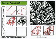 Tangle pattern: Fandance