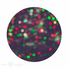 Festive, Abstract Photography, Circle Photo, Festive, Christmas Lights, Bokeh, Christmas in July, Circle Square Print, Green Red White Lights, #homedecor, #fpoe