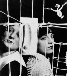 """Man Ray, Alberto Giacometti's Sculpture ""Le Palais à 4 heures du matin"" - Kiki and Her Friend Thérèse Treize  """
