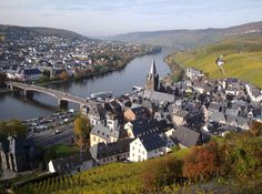 Bernkastel-Kues in Mosel in Germany : photo taken in early October. Watch a video about Bernkastel-Kues: http://www.youtube.com/watch?v=KVJ3QwHgyYY