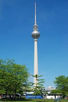 Berliner Fernsehturm.  The Television Tower in Berlin, Germany