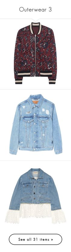 """""""Outerwear 3"""" by emmeleialouca ❤ liked on Polyvore featuring outerwear, jackets, sweatter, slim fit bomber jacket, reversible bomber jacket, red bomber jacket, lightweight bomber jacket, slim bomber jacket, mango jackets and blue denim jacket"""