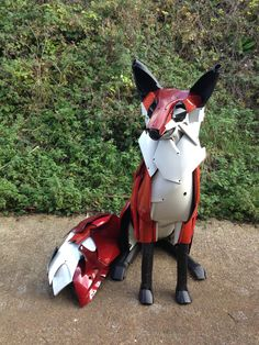 FOxY made by Hubcap Creatures out of old car bumpers