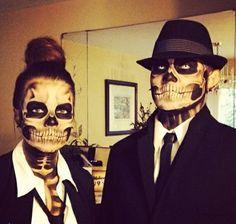 coole halloween kostüme skelett paar