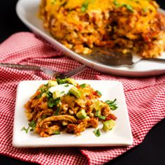 Chicken Tortilla Casserole HealthyAperture.com