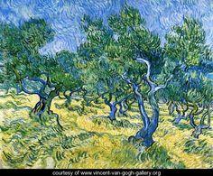 Complete Van Gogh Paintings | Olive Grove II - Vincent Van Gogh - www.vincent-van-gogh-gallery.org