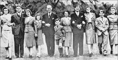 Eunice, Jack, Rosemary, Jean, Joseph Sr.,Teddy, Rose, Joe Jr., Patricia, Bobby and Kathleen. One of the last times the entire family would be photographed together. Joseph and Rose Kennedy's family on the eve of the beginning of WWll. Amazing accomplishments and world fame would be overshadowed with great tragedy and premature deaths that even Will Shakespeare would shake his head at.
