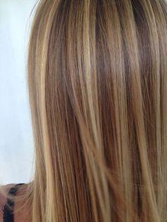 Brown hair with blonde highlights. | Hair | Hair, Dyed hair, Brown ...