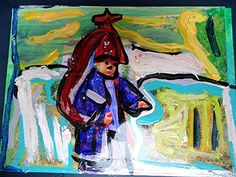 Children of the world Acryl/Öl/Leinwandkarton Pop Art Art brut Herbst Portrait