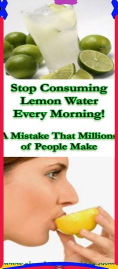 The Mistake You�re Making With Lemon Water.