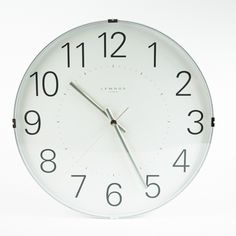 From clock maker Lemnos comes this wall clock with carefully considered details that are emblematic of the Japanese approach to design. With an unusually slim profile, it works seamlessly into interior spaces with a modern, elegant presence. The metal case is finished crisp, bright white, while the face features a convex glass face for a light and airy look. The numbers are oversized and easy to read, even from a distance. Runs on one AA battery (included).