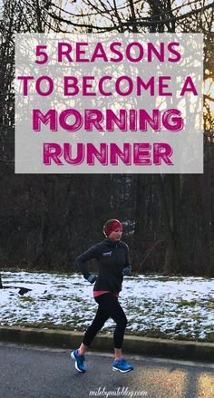 Are you a morning runner? If not, here are 5 reasons to consider becoming one. Click post to read about some of the benefits of running in the morning. #run #runner #running #morningrun #fridayfive #runningtips