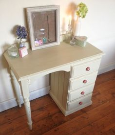 Shabby chic pale green Dressing table