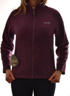Regatta Ladies Yasmin Fleece Jacket Shadow Purple Outdoor Walking Sbrwa028