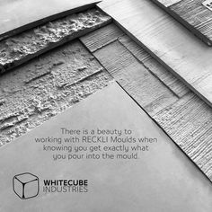 There is a beauty to working with #RECKLI #Moulds when knowing you get exactly what you pour into the #mould. #UHPC #concrete #cement #innovation #whitecube #Panel #Reckli