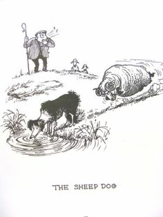 Thelwell Original Vintage Art Cartoon Print  Dog Types '64  Christmas or Holiday Gift  Free Shipping