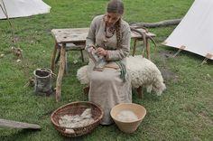 Carding wool