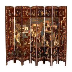 Antique Chinese Pagoda Coromandel Screens by ErinLaneEstate  #coromandelscreen #chinesecoromandel #asianscreen #orientalscreen #asianroomdivider  #roomdivider #screen #divider #asiandecor #asianfurniture