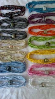 super cute crocheted bracelet