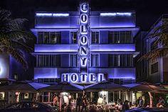 The Colony Hotel on Ocean Drive, South Beach Miami.
