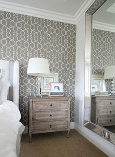 loving the luxe dimension our omni leaner mirror lends to blogger a thoughtful placeu0027s bedroom large wall