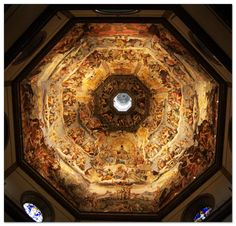 The Duomo in Florence, the Cathedral of Santa Maria del Fiore in Florence, Italy Giorgio Vasari, Santa Maria, Varanasi, Florence Cathedral, Renaissance, Florence Art, Les Religions, Photos Voyages, Iconic Photos