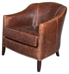 Madison Leather Occasional Chair, Saddle