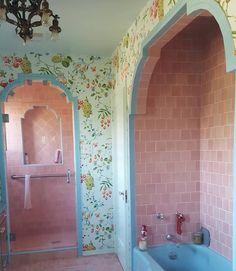 Dream Home Design, My Dream Home, Retro Interior Design, Pretty Room, Vintage Bathrooms, Aesthetic Room Decor, House Goals, Dream Rooms, My New Room