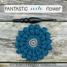 Free Crochet Pattern Fantastic Curly Flower Yarn